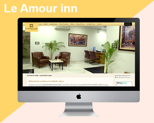web design and development leamourhotels